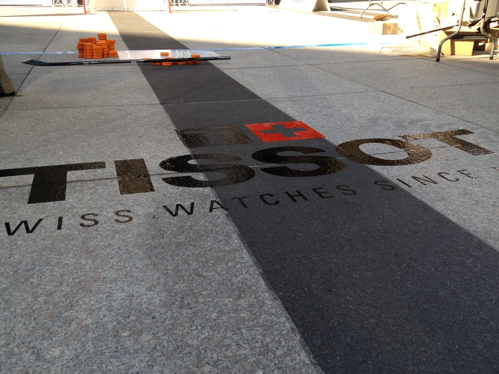 Floor decal - Tissot
