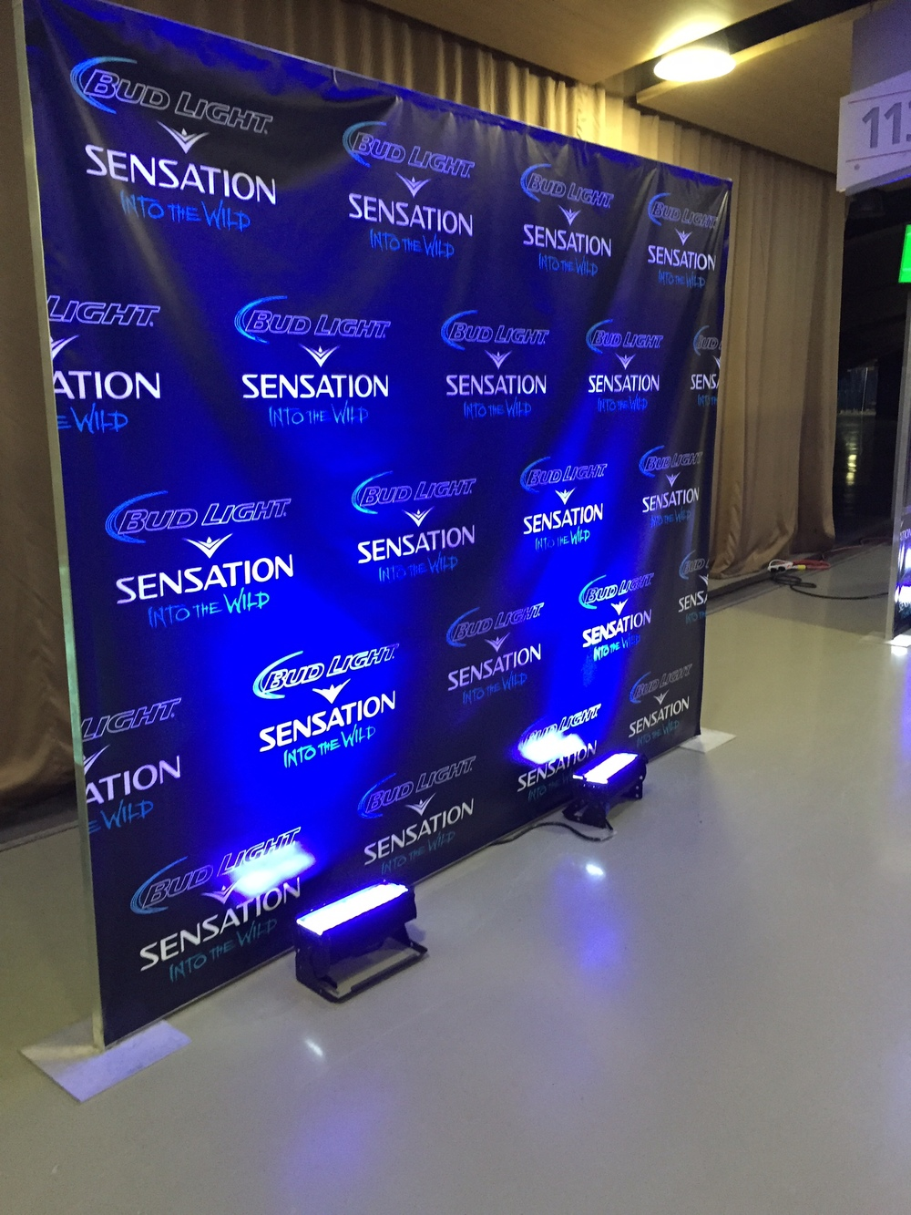 Scrim banner backdrops - Bud Light Sensation: Into the Wild 2014