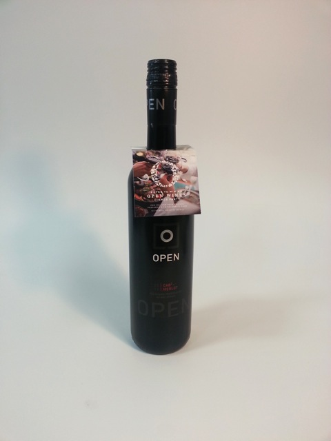 Wine bottle tag - Open Wines