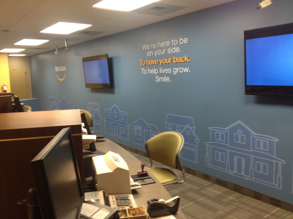 Vinyl-cut lettering and wall graphics
