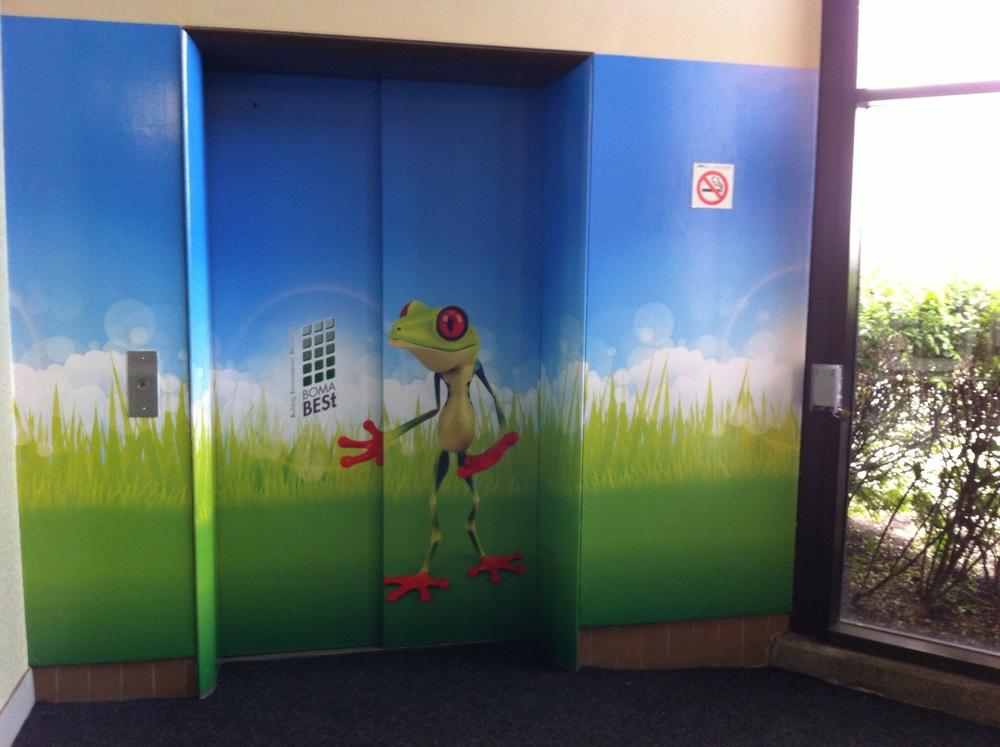 Elevator vinyl wrap - Eglinton Square Mall
