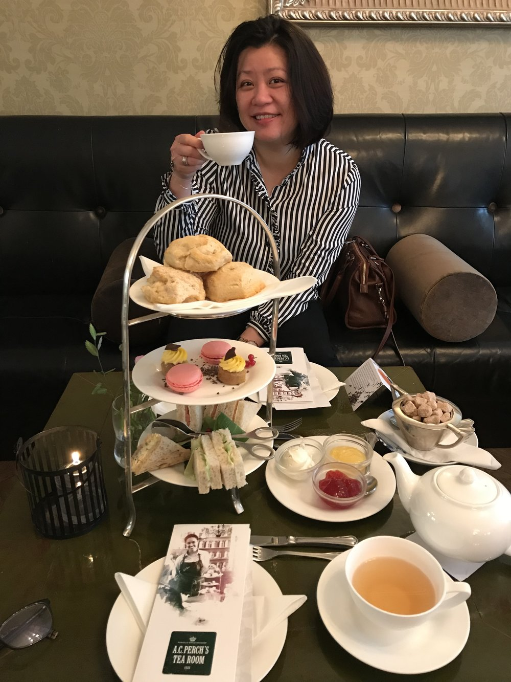 My friend My enjoying her tea - great company always.