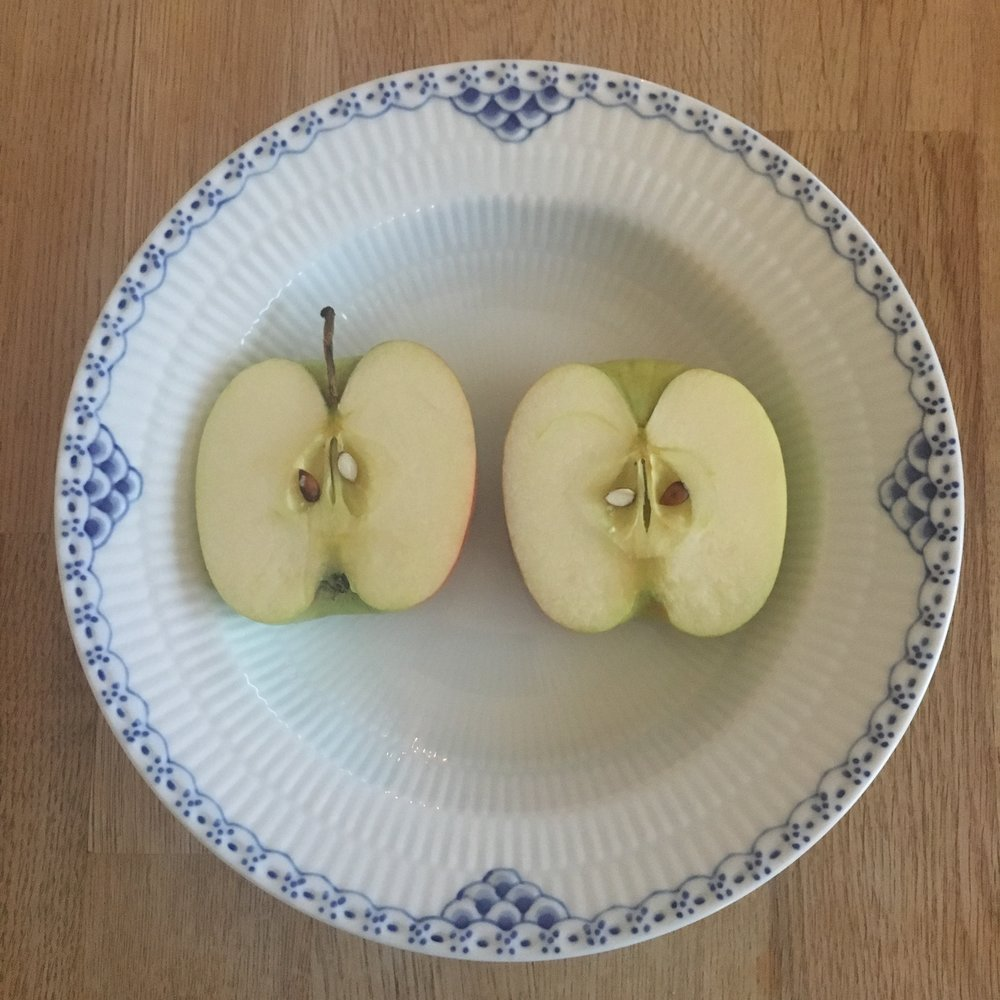 Healthy apples and my beautiful china