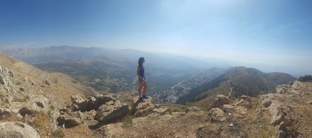A towering view of northern Lebanon after ATVing up the serene mountains. (photo credit: Lucien Khoury, July 2016)
