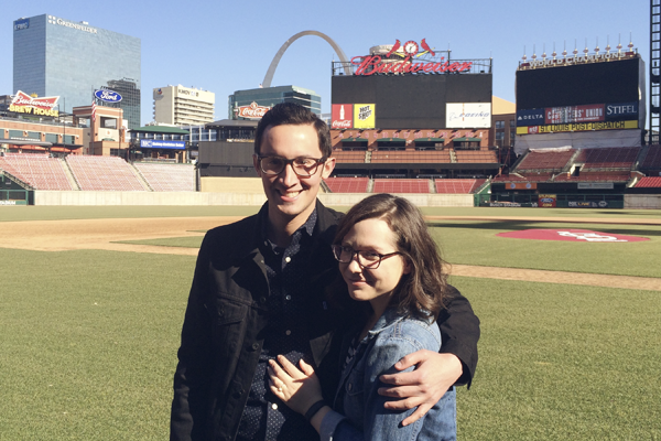J and took full advantage of the stadium tour during the show on an unusually nice February day