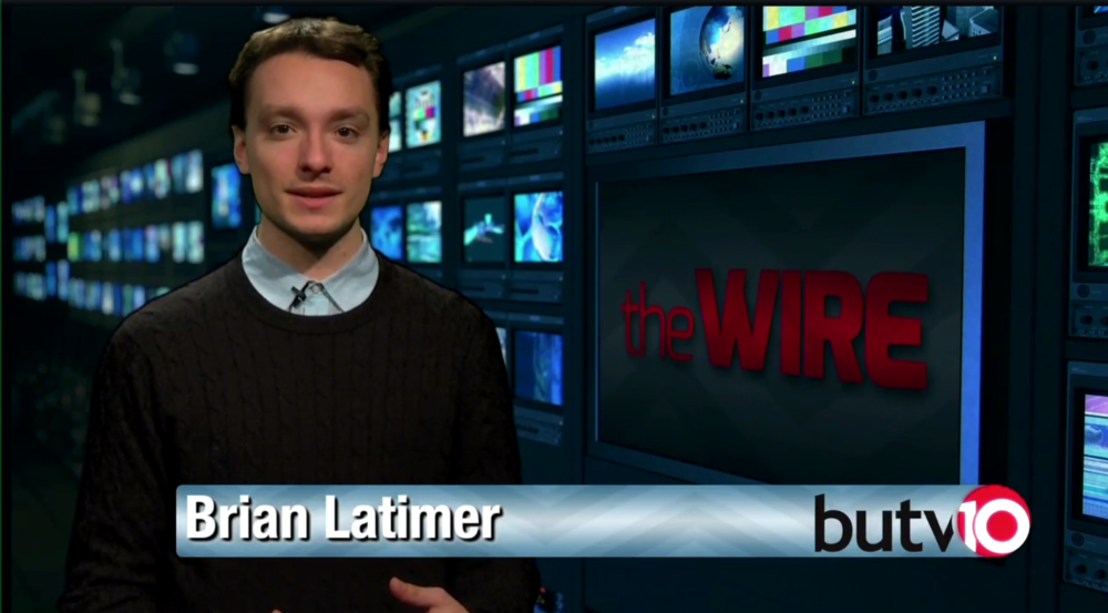 "This is a screen grab from one of my broadcasts on ""The Wire.""  You can watch the whole thing here."