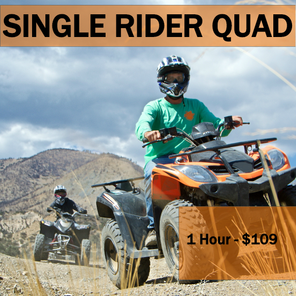 1 hR - PRIVATE ADVENTURE -   Max 4 ATVs per group. Min Age 14 years old
