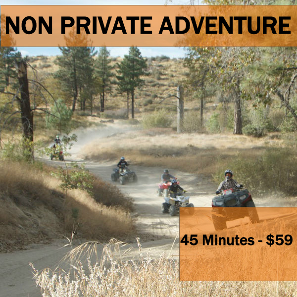 45 MINUTE NON-PRIVATE ADVENTURE - Min Age 16 years old. Cannot be combined with any other offer