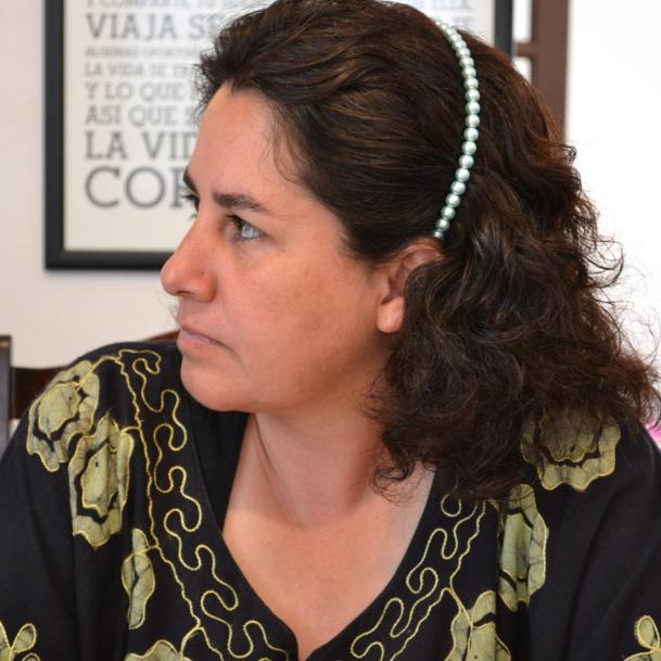 María Cristina en las oficinas de Crea ©Mariana Baptista