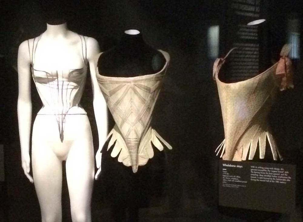 Photo by Anne Sanger, taken  at the Bard Graduate Center's  Fashioning the Body  exhibit.