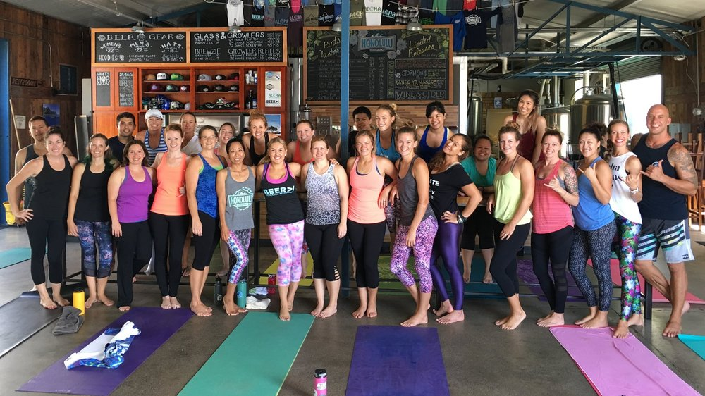 Bottoms Up! Sweat Social at Honolulu Beerworks, July 2016
