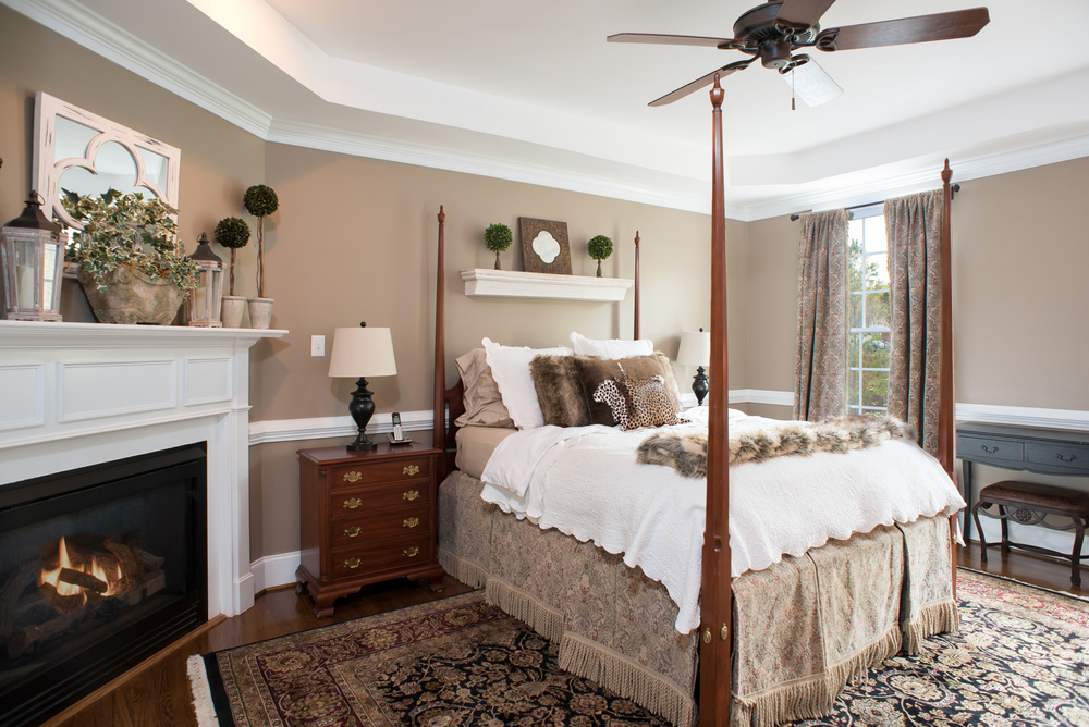 Midlothian Master Bedroom Photography