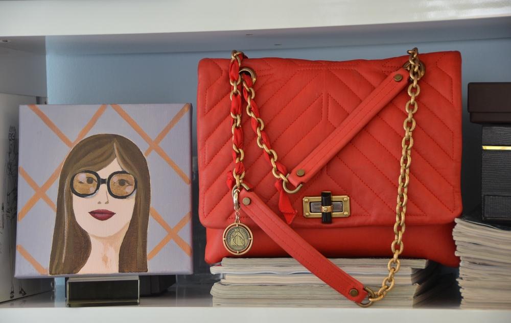 Portraitand bag, Lanvin