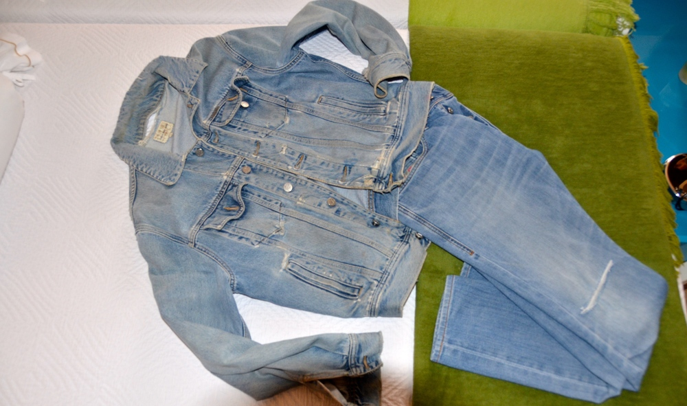 Old Diesel jeans and Calvin Klein denim jacket, will never get rid of these…