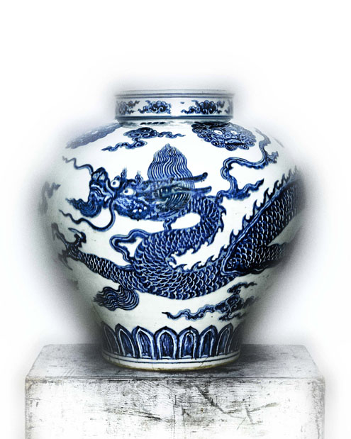 Jar with dragon, early 15th century  Ming Dynasty (1368-1644)