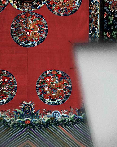 Court Robe, Detail Qing Dynasty (1644-1911)