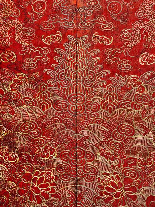 Detail of festival robe 19th century  Qing dynasty (1821-50) Xianfeng (1851-61) period