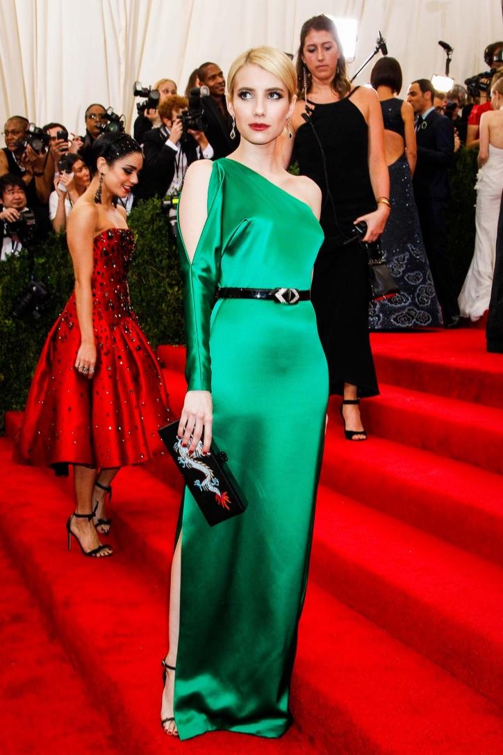 Emma Roberts in custom Ralph Lauren