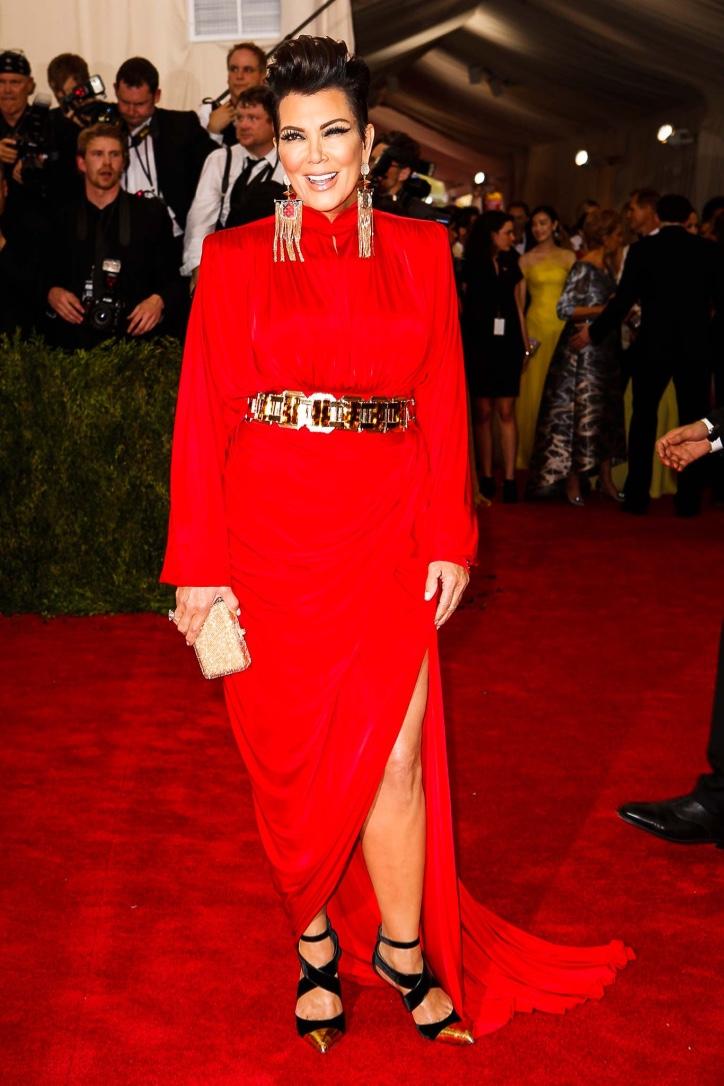Kris Jenner, looks like her ex-husband in drag.