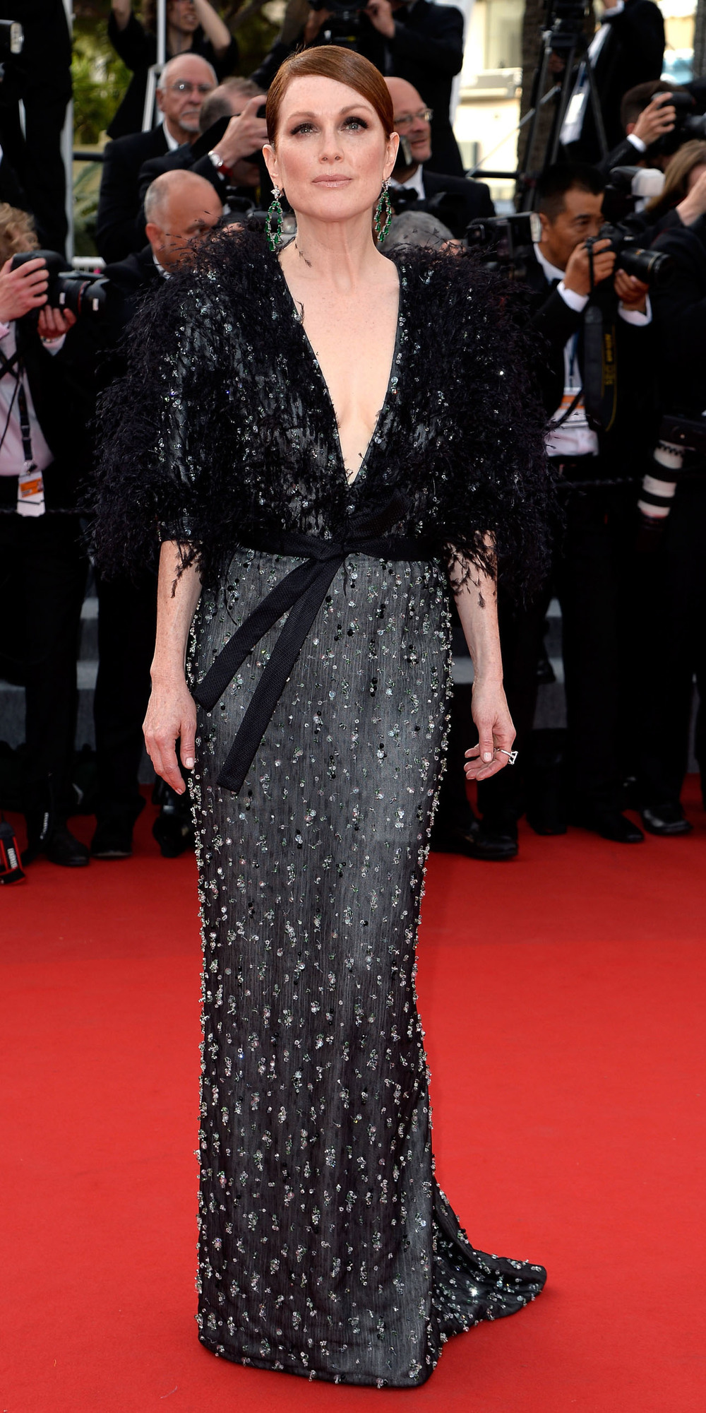 I think Julianne Moore looked magnificent in Armani Priveé, which is always perfect for the red carpet. But both her looks, the other by Givenchy, were a little too much on the wintery side.