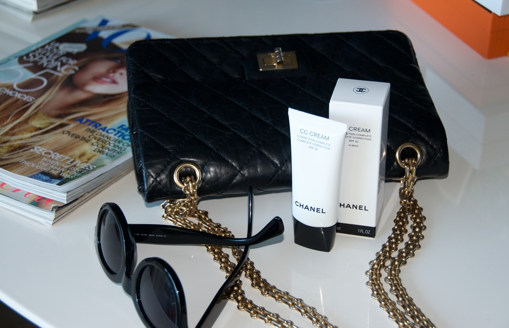 Perfect combination, Chanel 2.55, Celine sunglasses and my new classic, CC Cream by Chanel.