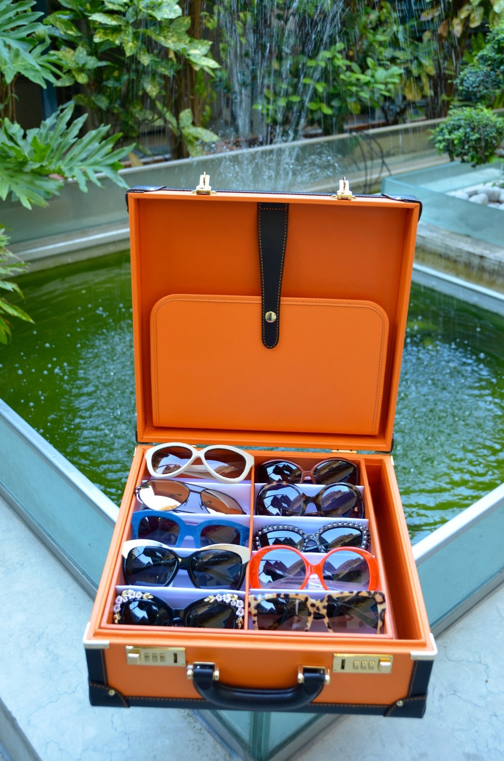 Personalised and bespoke glasses travel case.