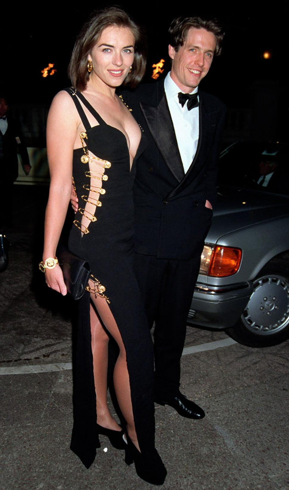 Elizabeth Hurley, 1995, wearing Versace. It certainly put her on the map...