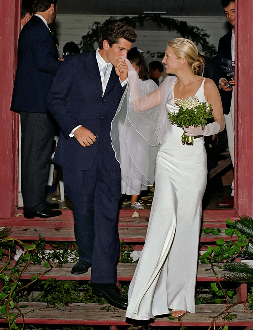 This is one of my favourite wedding photographs of all time, Carolyn Bessette Kennedy at her wedding in 1996. So much so, that I based my own wedding dress on this bias cut slip dress by Narciso Rodriguez.