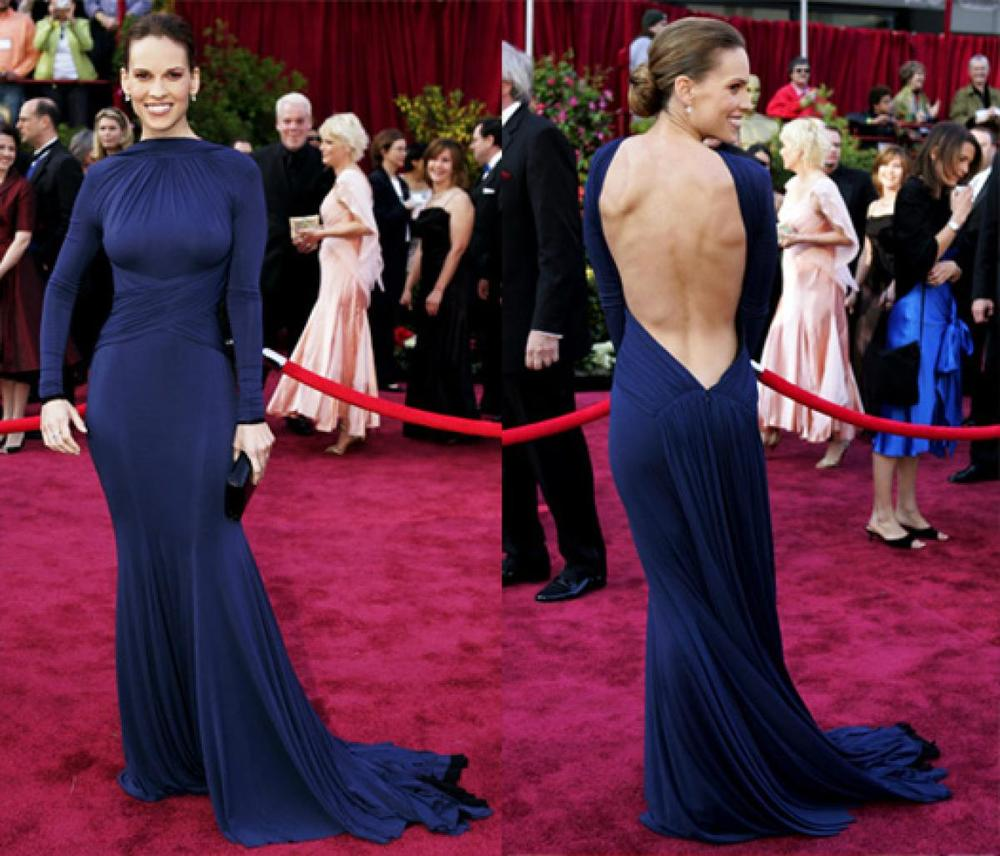 In 2005, Hilary Swank blew my mind with this super sensual Guy Laroche evening gown. The colour, the style, just everything, plus that smile!