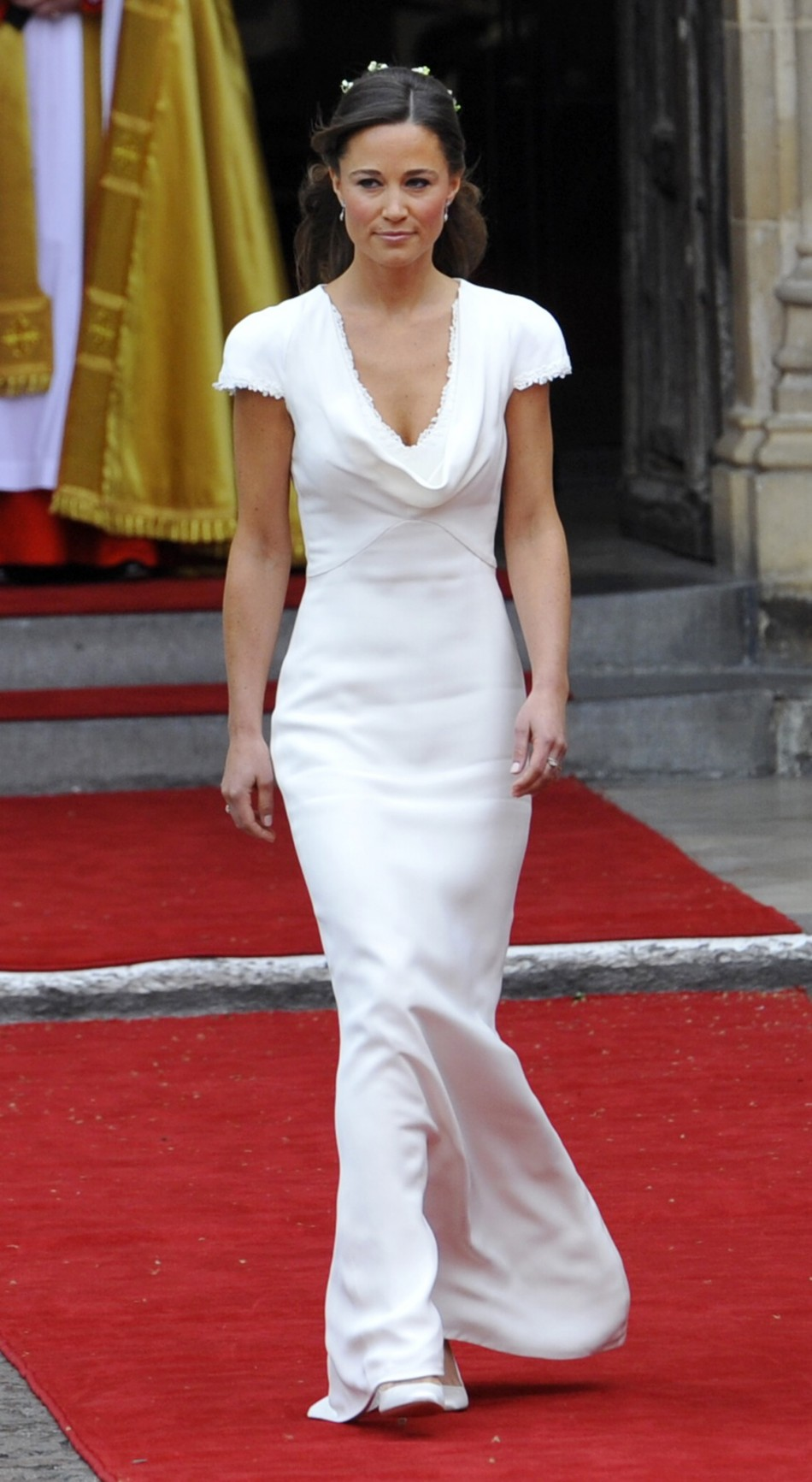 Pippa Midleton, undeniably the bridesmaid of the century! Dressed in Alexander McQueen, she almost stole the show at her sister's wedding in 2011.
