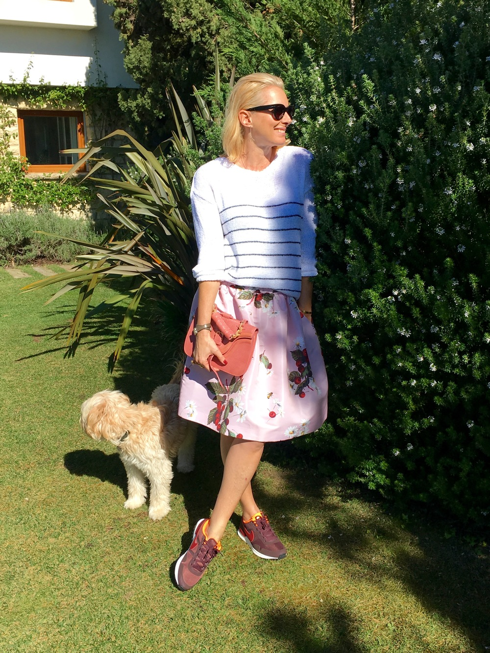 Spring is in the air... Skirt from Red Valentino, and sweater, American Vintage, at NUDE FASHION STORE