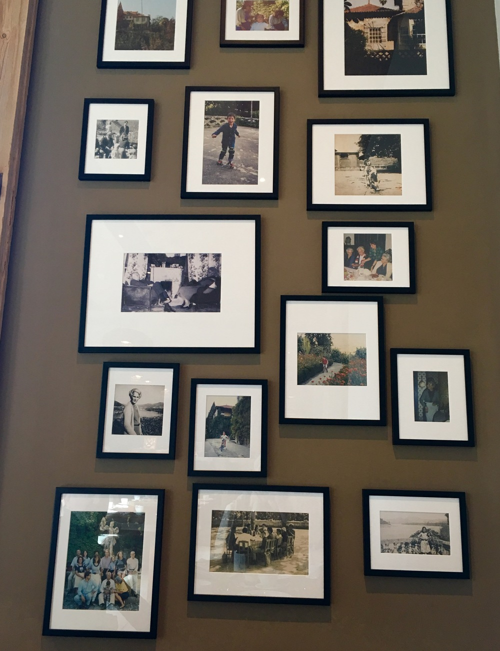 Original framed photographs of the previous owners of the manor house.