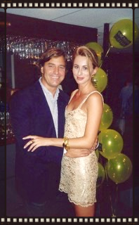 The late John Casablancas, ELITE  Model agency founder and I, in New York, sometime in the nineties! The slip dress was literally bought in the sleepwear section from Calvin Klein, and I wore ti with some Bruno Magli gold T-bar strappy sandals, and I thought I looked a million dollars!
