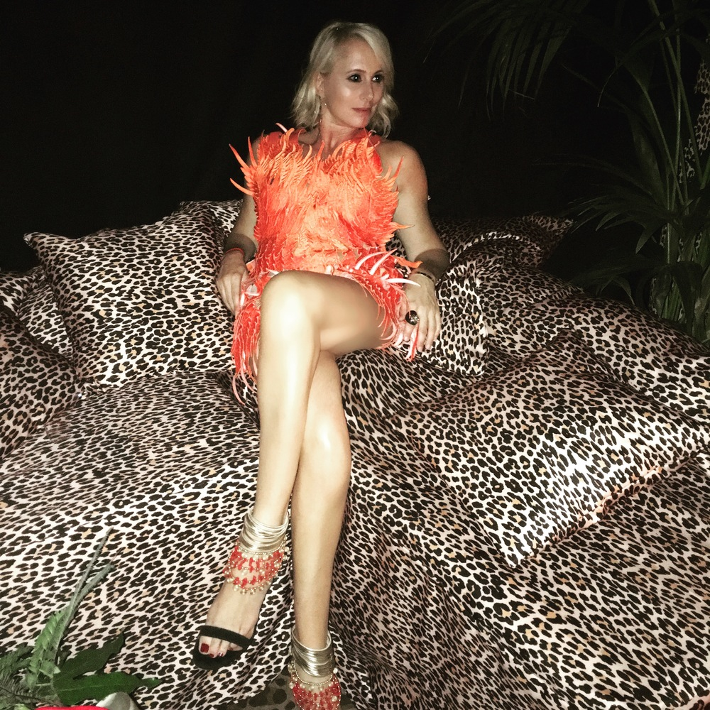 My perfectly feathered dress by Alves/Goncalves.