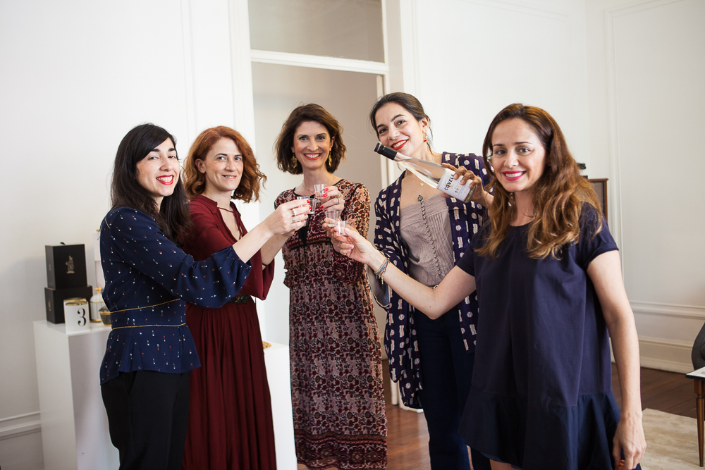 Manuela and her team, from left to right: Isabel Esteves, Senior Account, Ema Mendes freelance stylist, Monica Antunes, Senior Account, and Joana Pires, freelance stylist.