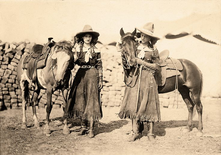 Early cowgirls, love their style.