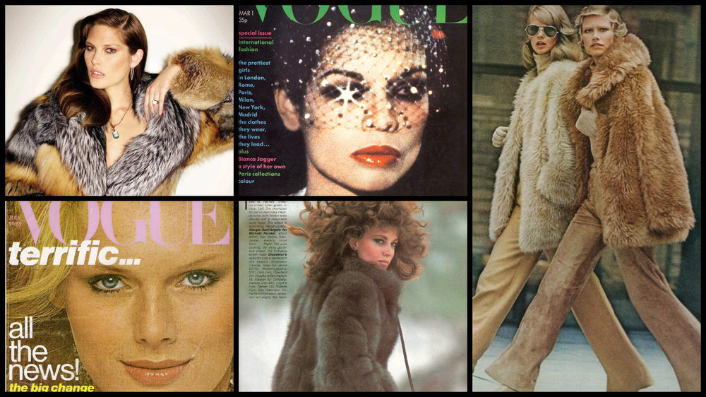 U.S. Vogue in the 70's, the lok was wolid, sexy and free.