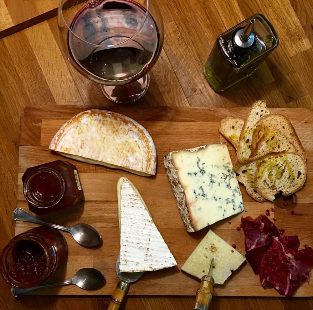 This was my dinner....cheese and wine.