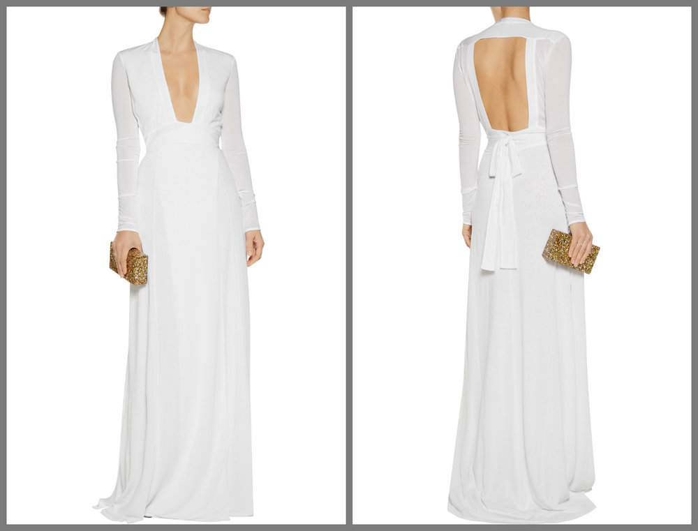 A very 70's Halston type dress, sexy and elegant from ISSA.