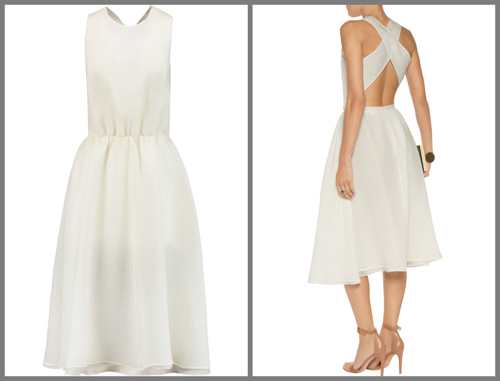 From Rochas,this is such a charming take on a 50's dress, and would be perfect with platforms or kitten heels.