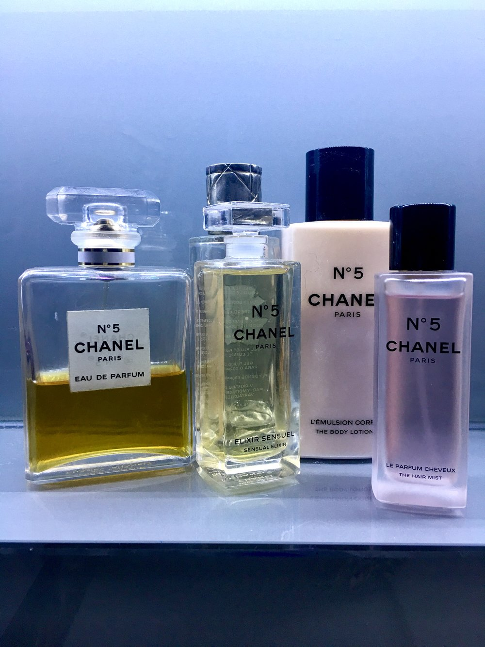Chanel is her classic go-to scent.