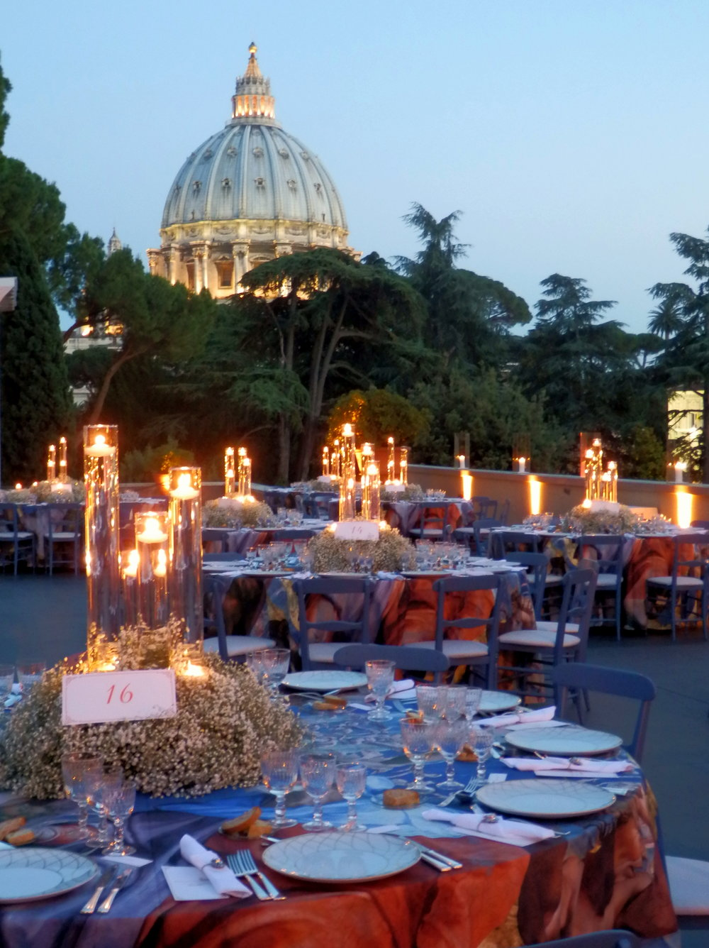Dinner at the Vatican Museum.