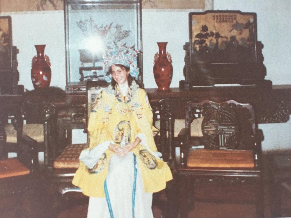 Me in China, at 13, dressed up like an Empress. Quanjude:Rua Pólo Norte 1.06 21 Parque das Nações