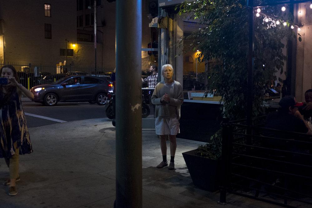 Bystander on Broadway, Los Angeles. 2016.