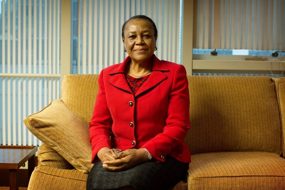 "Ambassador Joy Ogwu -  Officer of the Federal Republic of Nigeria (OFR)   Uche Joy Angela Ogwu has recently retired as Ambassador/Permanent Representative of the Federal Republic of Nigeria to the United Nations. She served as Minister of Foreign Affairs of the Federal Republic of Nigeria (2006 – 2007).  In her professional capacity as Professor of Political Science and International Relations, she served as the First Female Director-General of Nigeria's Foreign Policy Think-Tank - The Nigerian Institute of International Affairs (NIIA) (2001-2006). In January 2002, she was appointed by Kofi Annan as Member of the United Nations Secretary General's Advisory Board on Disarmament Matters. She became the First African female Chair of the Board. As a member of the Presidential Advisory Council on International Relations from October 2000-2006, she contributed to the advancement of Nigeria's foreign policy and has written extensively on foreign policy issues. Her first book, Nigeria's Foreign Policy: Alternative Futures, published by Macmillan (1986), became a classic for the study of foreign policy in Nigeria's institutions of higher learning. Among her numerous honours, Professor Ogwu was conferred with an award of OFR - Officer of the Federal Republic; for exemplary contribution to Nigeria.  She served as the First President of the First Executive Board of the newly-created entity, UN Women - United Nations Entity for Gender Equality and Empowerment of Women. She was appointed by the United Nations Secretary General BAN Ki-moon to serve as a Member of the Board of Trustees of the United Nations Institute for Training and Research (UNITAR) from 1st January, 2010 to January 1st 2016. On 1st of January, 2014, she unprecedentedly led Nigeria's delegation to the UN Security Council for the second successive time. In this phenomenal capacity, she has served previously as President of the Security Council four times – first in the month of July 2010; October 2011;  April 2014 and August 2015, making her the 1st Ambassador of the Elected Member States of the Security Council to set such a record. Since 2008, she has served as Chair of the Special Committee of Peacekeeping Operations (C-34) and was re-elected for the seventhconsecutive time on 16 February, 2016. In 2011, she was elected the First African President of the UN Programme of Action on Small Arms and Light Weapons. Following numerous intensive consultations across the world, she led the 193 Member States of the UN in September 2012 to adopt a landmark Consensus Outcome Document. This momentous achievement has been widely acclaimed as a major diplomatic accomplishment for Nigeria, Africa and humanity. A book, on this accomplishment, titled, The Anatomy of a Consensus was released in December 2015.  She has been honored with various awards namely; the ""Spirit of the United Nations Award"" and ""UN Ambassador's Biblical Values Award"" by the National Bible Association for her modest contributions to the service of God and humanity. In all these endeavours, Prof Ogwu glorifies God and stands as a light to the young generations."