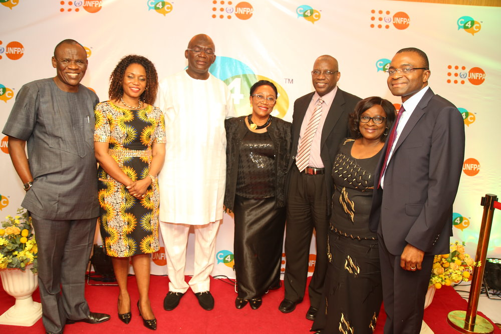 Some Members of the Board of Trustees of C4C with Representatives from the UNFPA.
