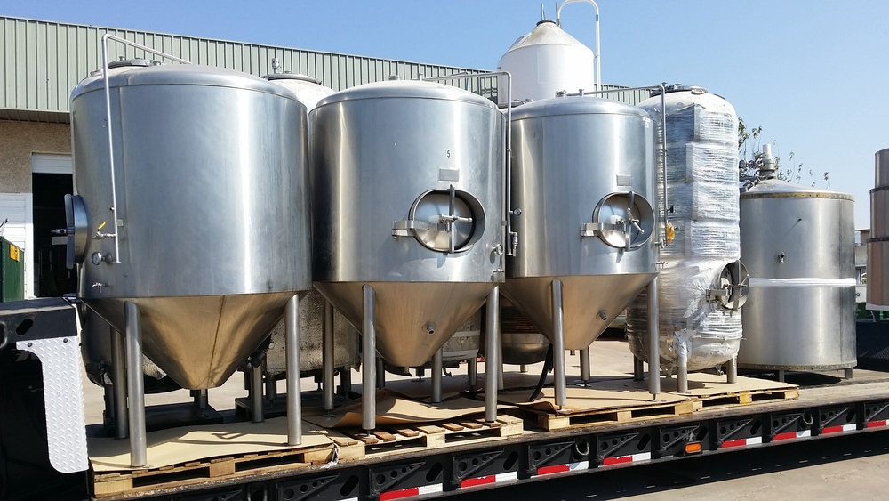 New brewing equipment for a brew pub from Austin, TX to Sonoma, CA.