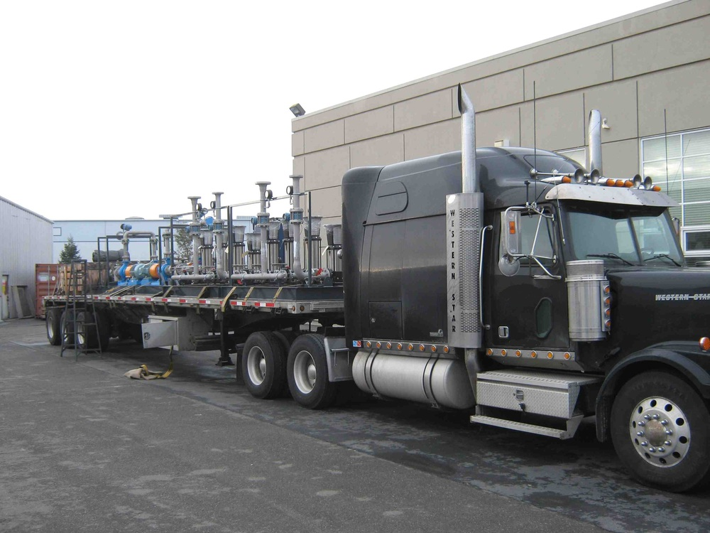 Palletized   Machinery for a pollution control company from Vallejo, CA to Burns Lake, BC.