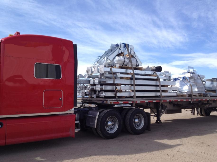 Structural steel from a steel manufacturing plant in Greely, CO to Clavet, SK.