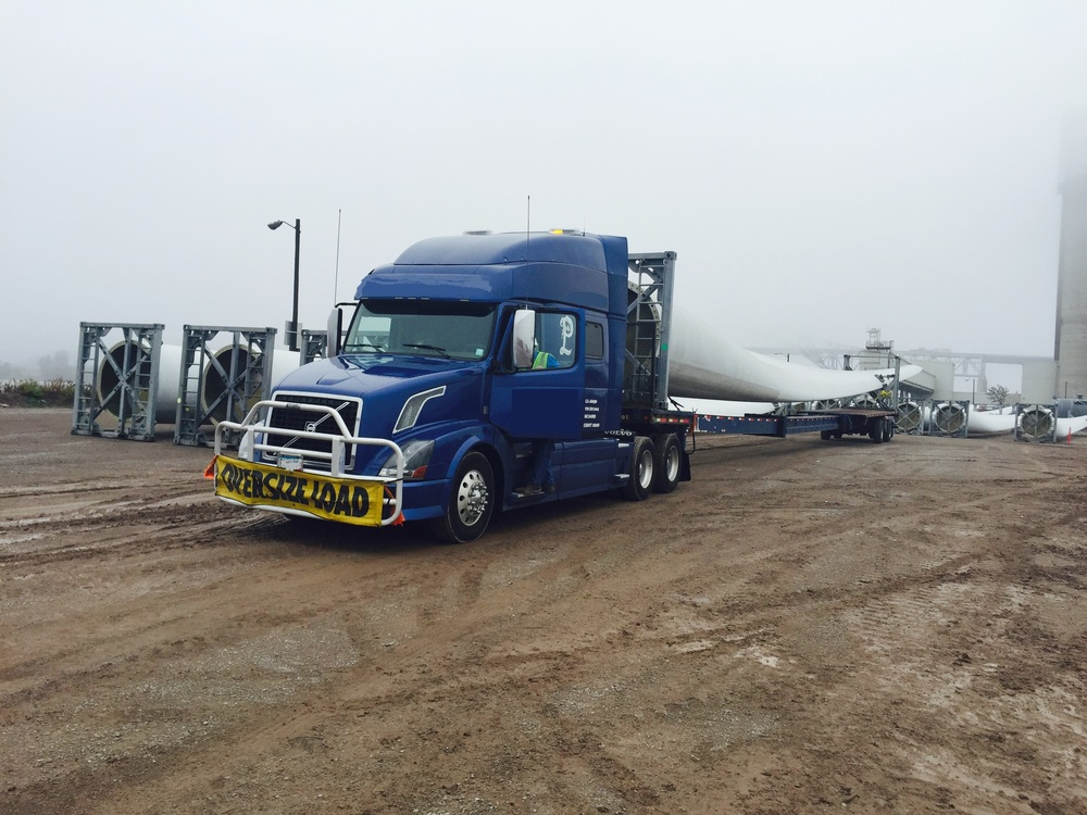 "140 foot ""Windmill Blade"" from Grand Forks, ND to the Port of Duluth, MN for export."